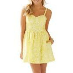 Lilly Pulitzer Christine Yellow Sea Cups Sundress